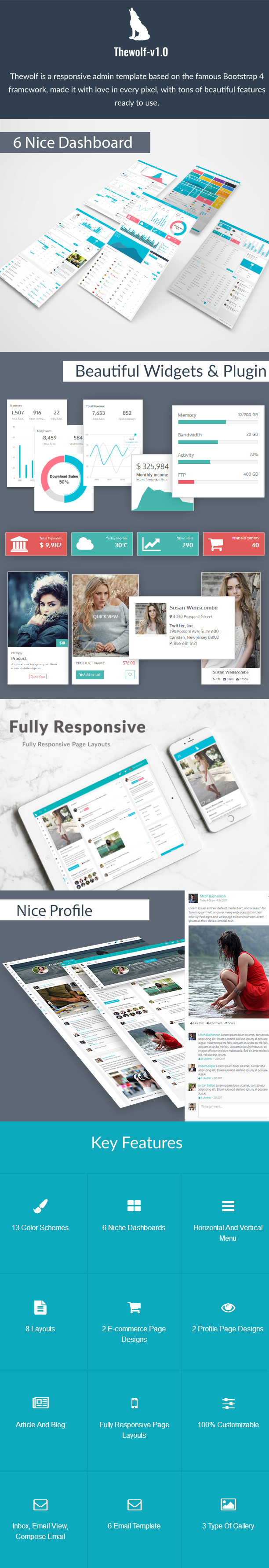 Thewolf - Responsive Bootstrap 4 Admin Template - 1